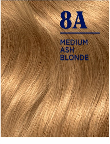 Clairol Nice'n Easy 8A Medium Ash Blonde Hair Color Perspective: top