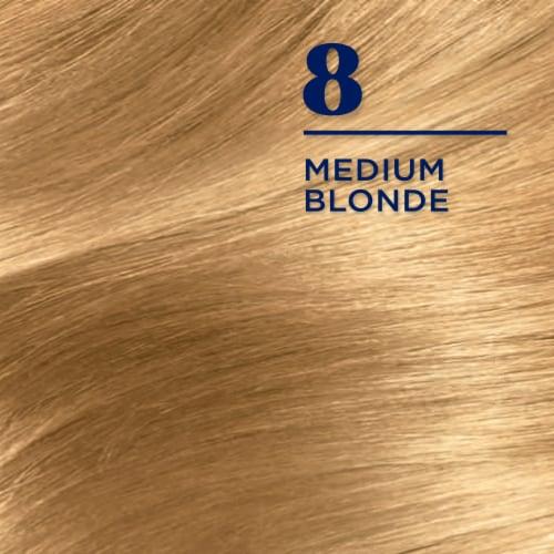 Clairol Nice'n Easy 8 Medium Blonde Permanent Hair Color Perspective: top