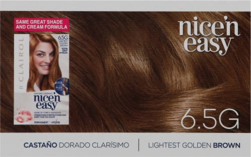 Clairol Nice'n Easy 6.5G Lightest Golden Brown Permanent Hair Color Perspective: top