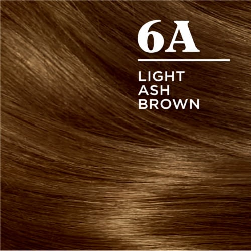 Clairol Nice'n Easy 6A Light Ash Brown Permanent Hair Color Perspective: top