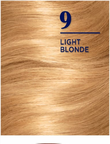 Clairol Nice'n Easy 9 Light Blonde Permanent Hair Color Perspective: top