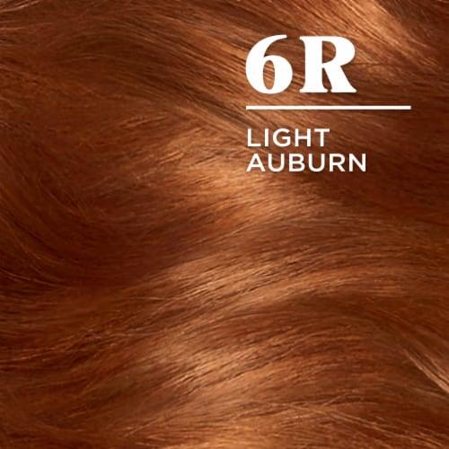 Clairol Nice'n Easy 6R Light Auburn Permanent Hair Color Perspective: top