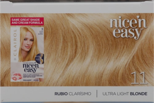 Clairol Nice'n Easy 11 Ultra Light Blonde Permanent Hair Color Perspective: top