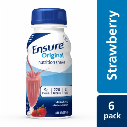 Ensure Original Strawberry Ready-to-Drink Nutrition Shakes Perspective: top