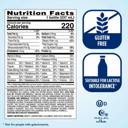Ensure Original Vanilla Ready-to-Drink Nutrition Shakes Perspective: top