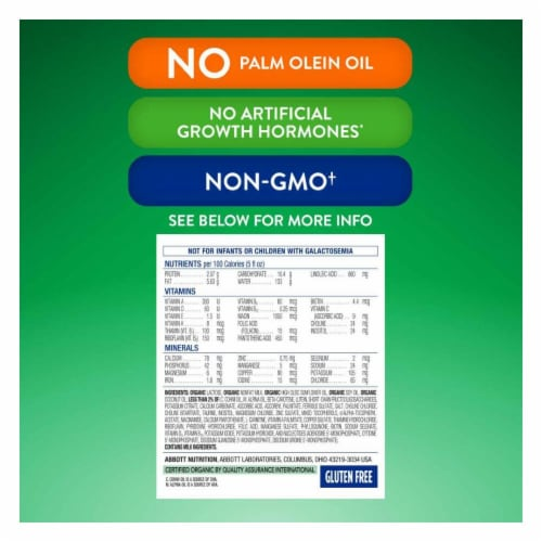 Similac Organic Milk-Based Powder with Iron Infant Formula Perspective: top