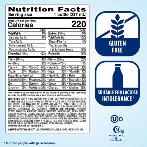 Ensure Original Milk Chocolate Ready-to-Drink Nutrition Shake Perspective: top