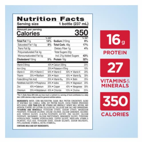 Ensure® Plus Dark Chocolate Ready-to-Drink Nutrition Shake Perspective: top
