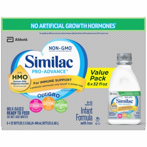 Similac Pro-Advance Ready to Feed Infant Formula with Iron Perspective: top