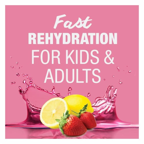 Pedialyte AdvancedCare® Strawberry Lemonade Electrolyte Solution Perspective: top