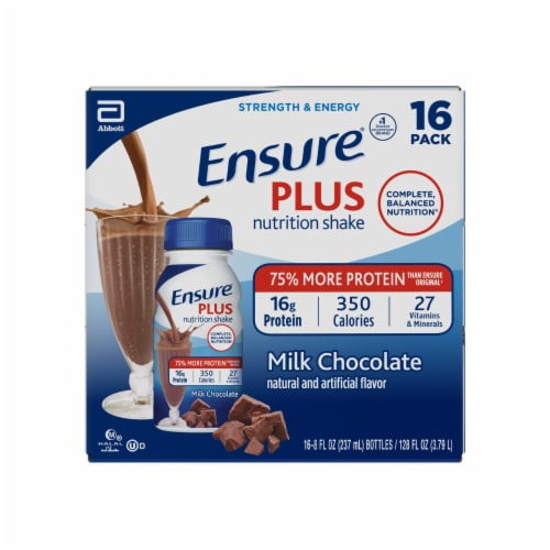 Ensure Plus Milk Chocolate Ready-to-Drink Nutrition Shake Perspective: top