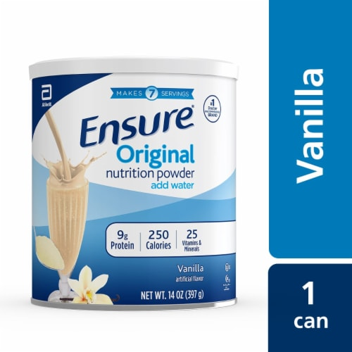 Ensure Original Vanilla Nutrition Powder Perspective: top