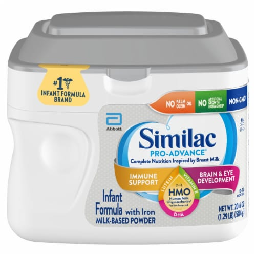 Similac Pro-Advance Milk-Based Powder Infant Formula with Iron Perspective: top