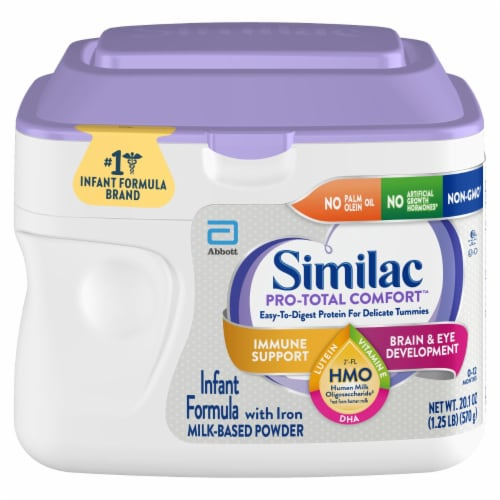 Similac Pro-Total Comfort Milk Based Powder Infant Formula with Iron Perspective: top