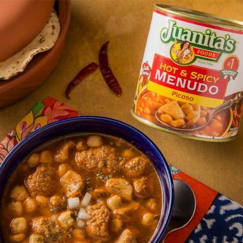 Juanita's Hot & Spicy Menudo Picoso Perspective: top