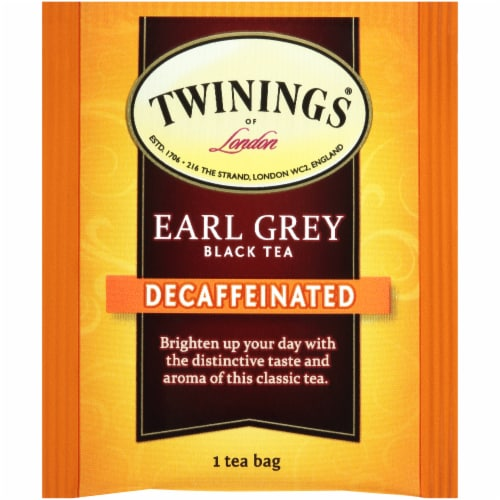 Twinings Of London Decaffeinated Earl Grey Black Tea Bags Perspective: top