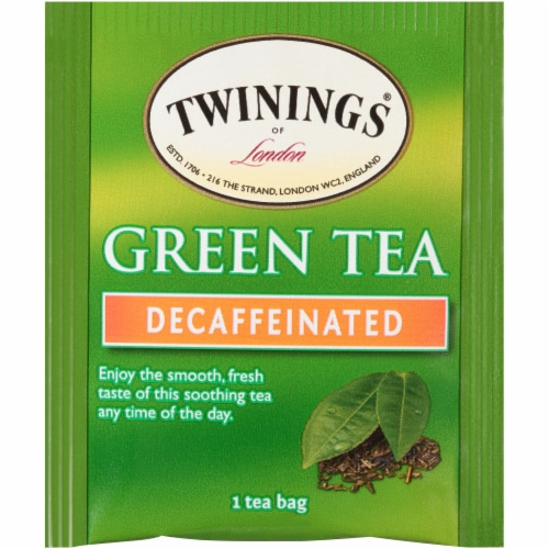 Twinings of London Decaffeinated Green Tea Bags Perspective: top