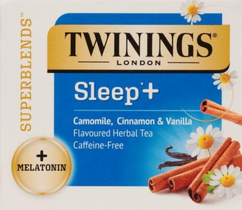 Twinings® of London Sleep+ Camomile Cinnamon & Vanila Flavored Herbal Tea Perspective: top