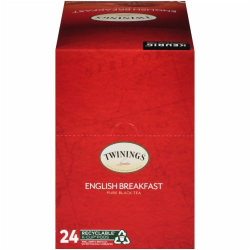 Twinings® of London English Breakfast Pure Black Tea K-Cup Pods Perspective: top