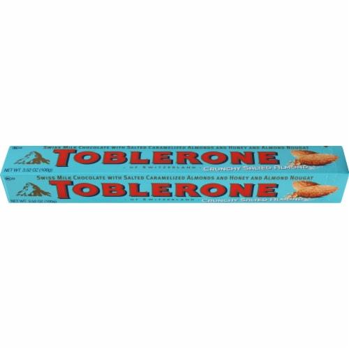 Toblerone Crunchy Salted Almond Swiss Milk Chocolate Bar Perspective: top