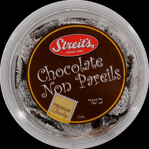 Streit's Chocolate Non Pareils Perspective: top