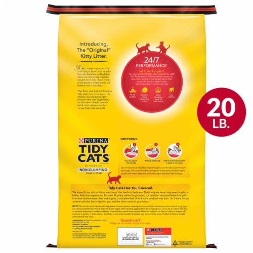 Tidy Cats 24/7 Performance Multi Cat Non-Clumping Litter Perspective: top