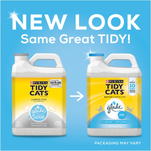 Tidy Cats with Glade Clear Springs Multi Cat Clumping Litter Perspective: top