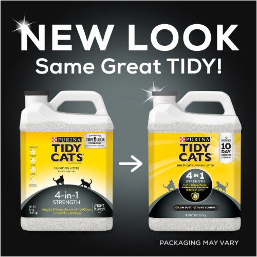 Tidy Cats 4-in-1 Strength Clumping Multi-Cat Litter Perspective: top