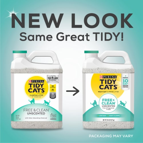 Tidy Cats Free & Clean Unscented Clumping Multi-Cat Litter Perspective: top