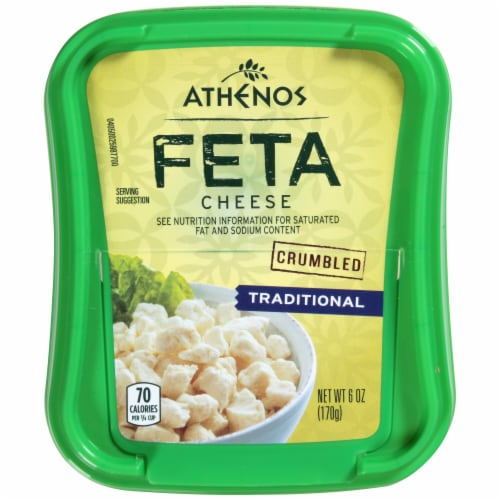 Athenos Crumbled Traditional Feta Cheese Perspective: top