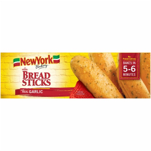 New York Bakery Garlic Bread Sticks Perspective: top