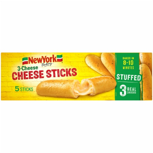 New York Bakery Three Cheese Sticks 5 Count Perspective: top