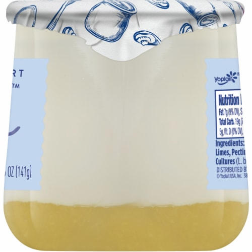 Oui by Yoplait Key Lime French Style Yogurt Perspective: top