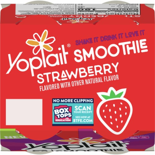 Yoplait Strawberry Flavored Smoothie Perspective: top