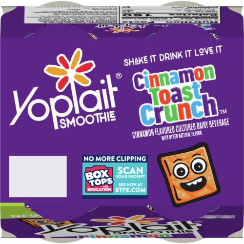 Yoplait Cinnamon Toast Crunch Smoothies 4 Count Perspective: top