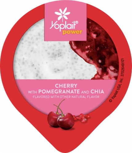 Yoplait® Power Cherry with Pomegranate and Chia Low Fat Yogurt Perspective: top