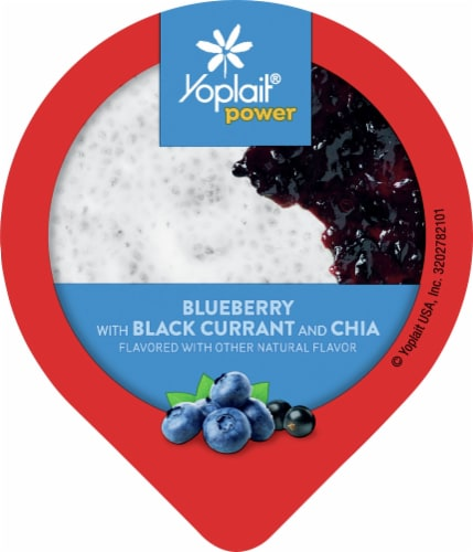 Yoplait® Power Blueberry with Black Currant and Chia Low Fat Yogurt Perspective: top
