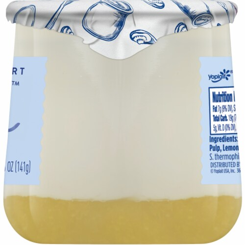 Oui by Yoplait Lemon French Style Yogurt Perspective: top