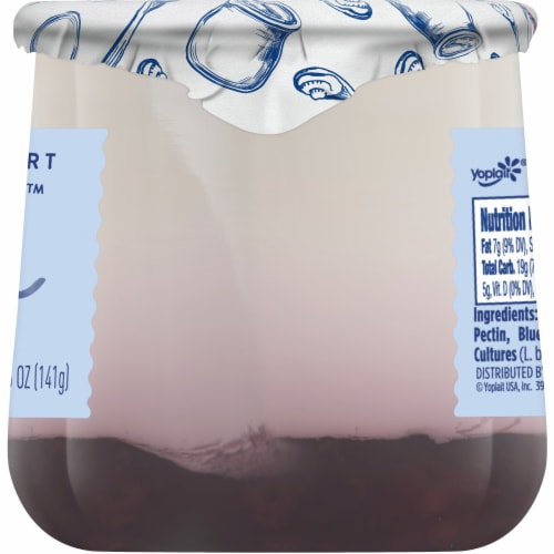 Oui by Yoplait Black Cherry French Style Yogurt Perspective: top