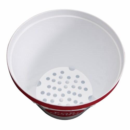 Hutzler Popcorn Bucket & Popcorn Bowls - Red Perspective: top
