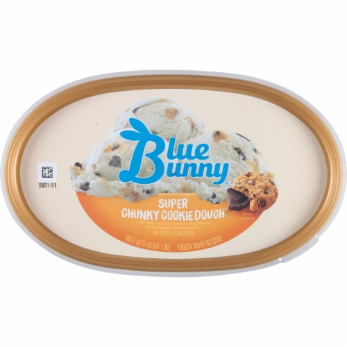 Blue Bunny Super Chunky Cookie Dough Ice Cream Perspective: top
