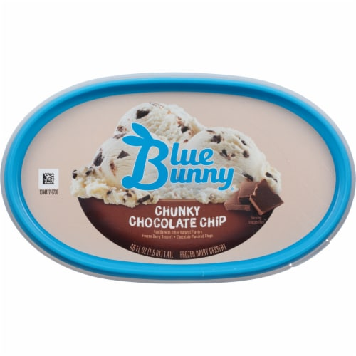 Blue Bunny Chunky Chocolate Chip Ice Cream Perspective: top