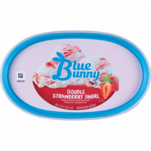 Blue Bunny Double Strawberry Swirl Frozen Dairy Dessert Perspective: top