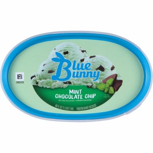 Blue Bunny Mint Chocolate Chip Frozen Dairy Dessert Perspective: top