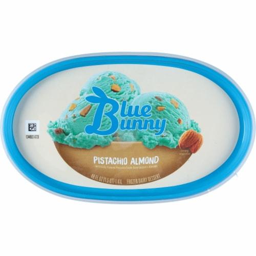 Blue Bunny Pistachio Almond Frozen Dairy Dessert Perspective: top
