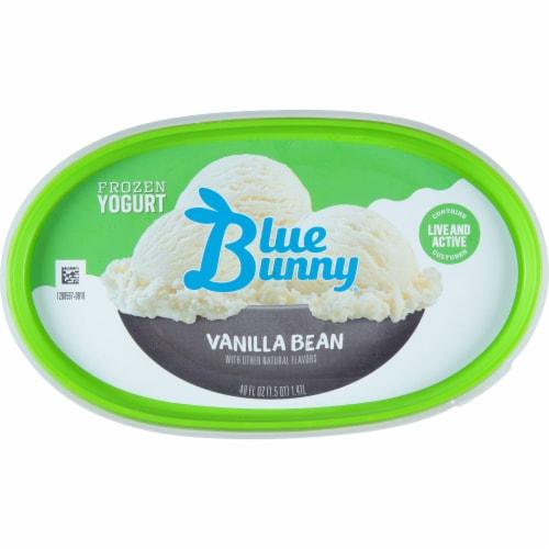 Blue Bunny Vanilla Bean Frozen Yogurt Perspective: top