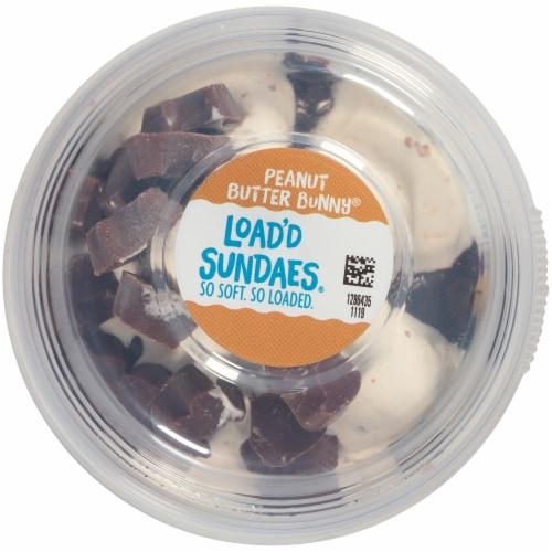 Blue Bunny Load'd Sundaes Peanut Butter Bunny Ice Cream Perspective: top