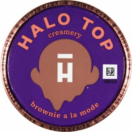 Halo Top Brownie a la Mode Frozen Dessert Perspective: top