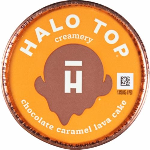 Halo Top Chocolate Caramel Lava Cake Frozen Dessert Perspective: top