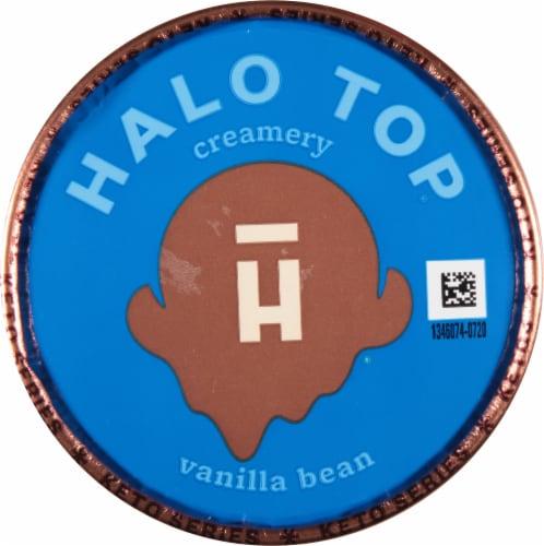 Halo Top Vanilla Bean Frozen Dessert Perspective: top